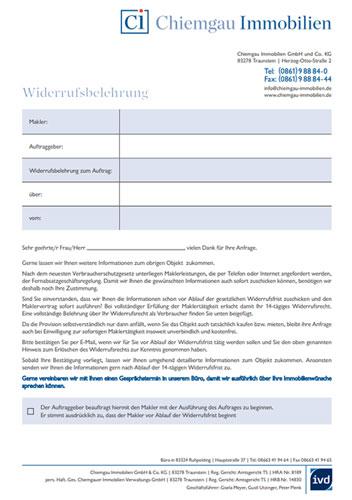 Chiemgau Immobilien Download Widerrufsbelehrung